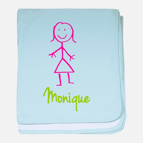 Monique-cute-stick-girl.png baby blanket