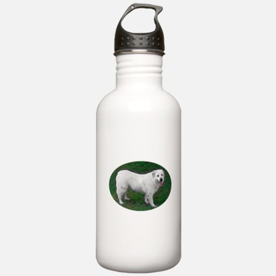 Great Pyrenees Hand Colored Photo Water Bottle
