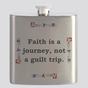 Faith Is A Journey - Anonymous Flask