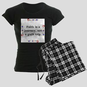 Faith Is A Journey - Anonymous Women's Dark Pajama