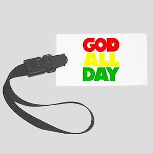 GOD ALL DAY Rasta Large Luggage Tag