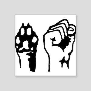 "Animal and Human liberation. Square Sticker 3"" x 3"