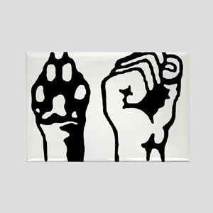 Animal and Human liberation. Rectangle Magnet