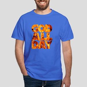 GOD ALL DAY Flames Dark T-Shirt