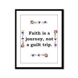 Faith Is A Journey - Anonymous Framed Panel Print