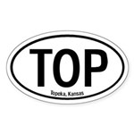 Topeka, Kansas Oval Sticker
