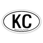 Kansas City, Kansas Oval Sticker