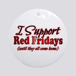 I support Red Fridays Ornament (Round)