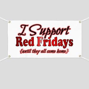 I support Red Fridays Banner