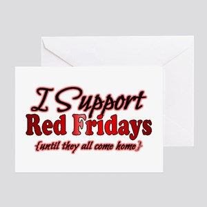 I support Red Fridays Greeting Card
