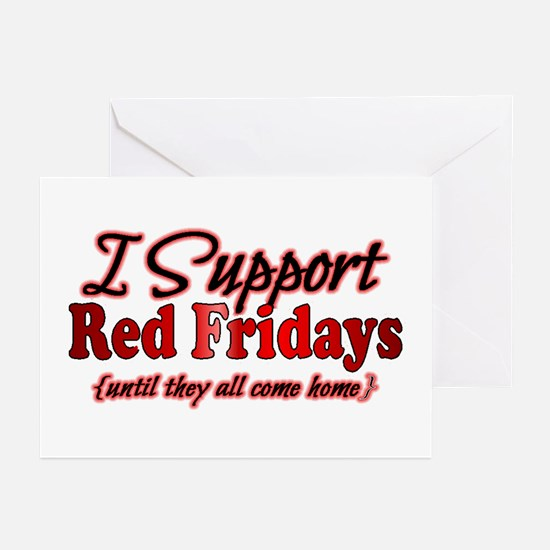 I support Red Fridays Greeting Cards (Pk of 10)