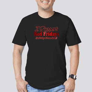 I support Red Fridays Men's Fitted T-Shirt (dark)