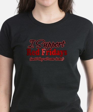 I support Red Fridays Women's Dark T-Shirt
