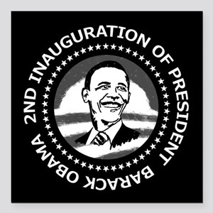 """2nd Inauguration Square Car Magnet 3"""" x 3"""""""