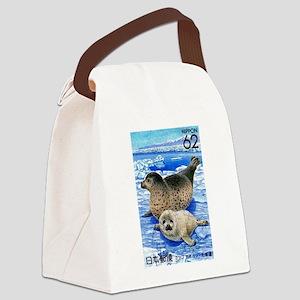 1993 Japan Harbor Seals Postage Stamp Canvas Lunch