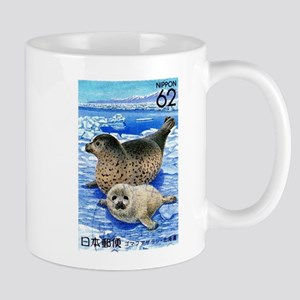 1993 Japan Harbor Seals Postage Stamp Mug