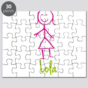 Lola-cute-stick-girl Puzzle