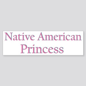 Native American Princess Bumper Sticker