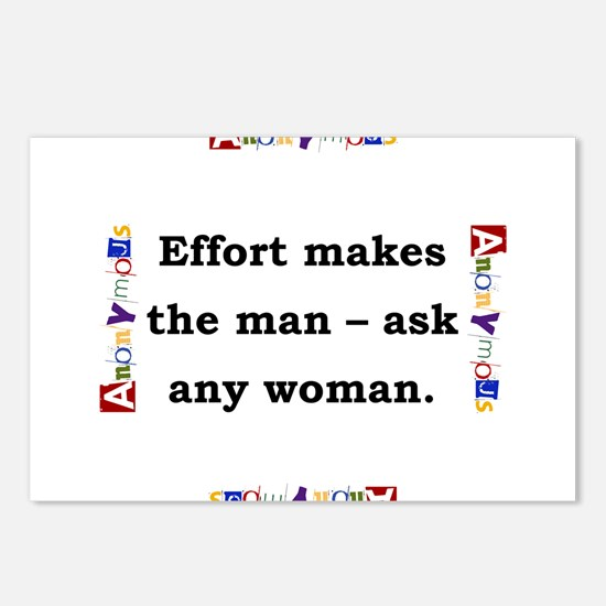 Effort Makes The Man - Anonymous Postcards (Packag