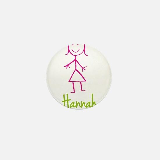 Hannah-cute-stick-girl.png Mini Button