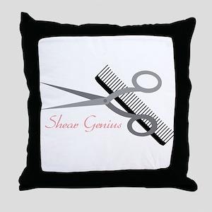 Shear Genius Throw Pillow