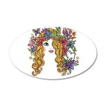 Pretty Face 1 35x21 Oval Wall Decal
