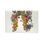 Pretty Face 1 Rectangle Magnet (10 pack)