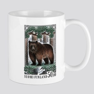 1989 Finland Brown Bear Postage Stamp Mug