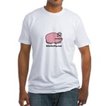 Sea Pig with Website Fitted T-Shirt