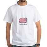 Sea Pig with Website White T-Shirt
