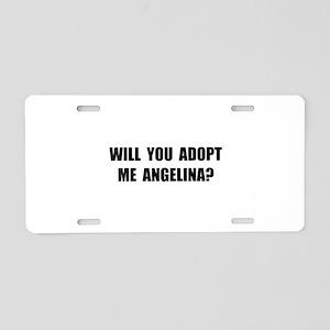 Adopt Me Angelina Aluminum License Plate