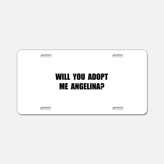 Adopt Me Angelina Aluminum License Plate