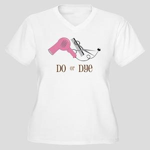 Do Or Dye Women's Plus Size V-Neck T-Shirt