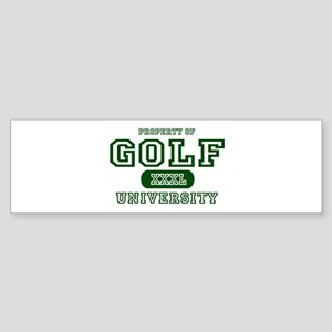 Golf University Bumper Sticker