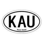 Kauai, Hawaii Oval Sticker