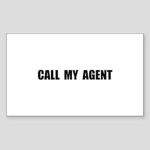Call My Agent Sticker (Rectangle 10 pk)