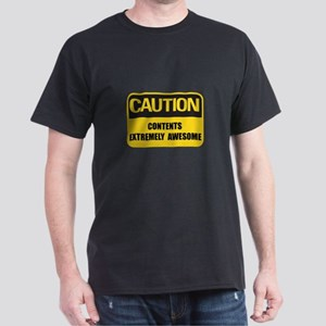 Caution Awesome Dark T-Shirt