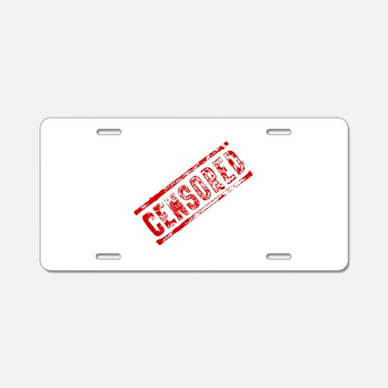 Censored Stamp Aluminum License Plate