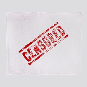 Censored Stamp Throw Blanket