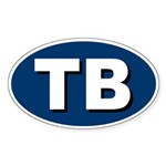 Tampa Bay, Florida Oval Sticker