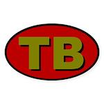 Tampa Bay Florida Oval Sticker