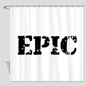 Distressed Epic Shower Curtain