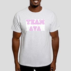 Pink team Ava Ash Grey T-Shirt