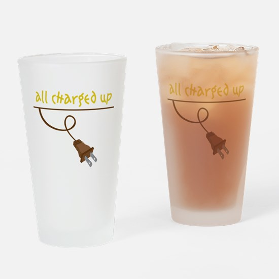 All Charged Up Drinking Glass