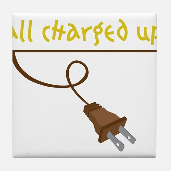 All Charged Up Tile Coaster