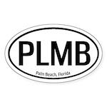 Palm Beach, Florida Oval Sticker