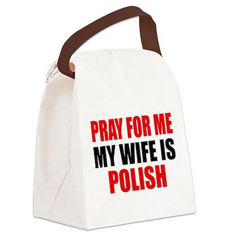 Pray Wife Polish Canvas Lunch Bag