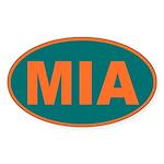 Miami, Florida Oval Sticker