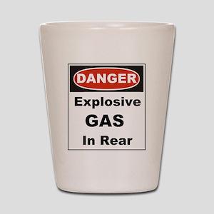 Danger Explosive Gas In Rear Shot Glass