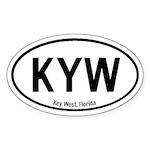 Key West, Florida Oval Sticker